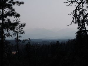 Smoky air in southern Oregon, Summer 2014.