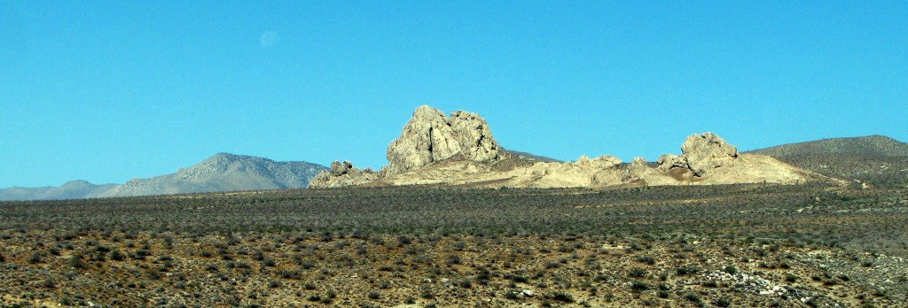 Stony outcropping in the south Sierras, taken from Freeman Canyon.