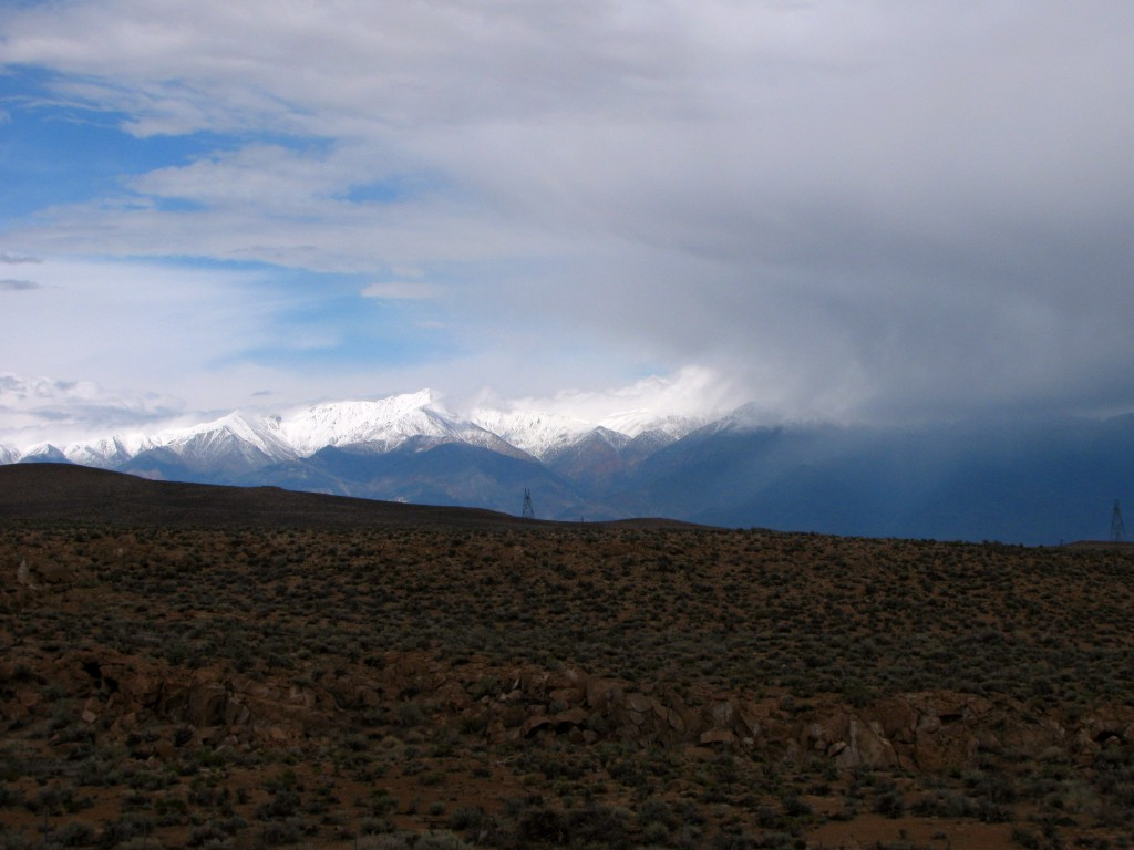 Storm over the White Mountains