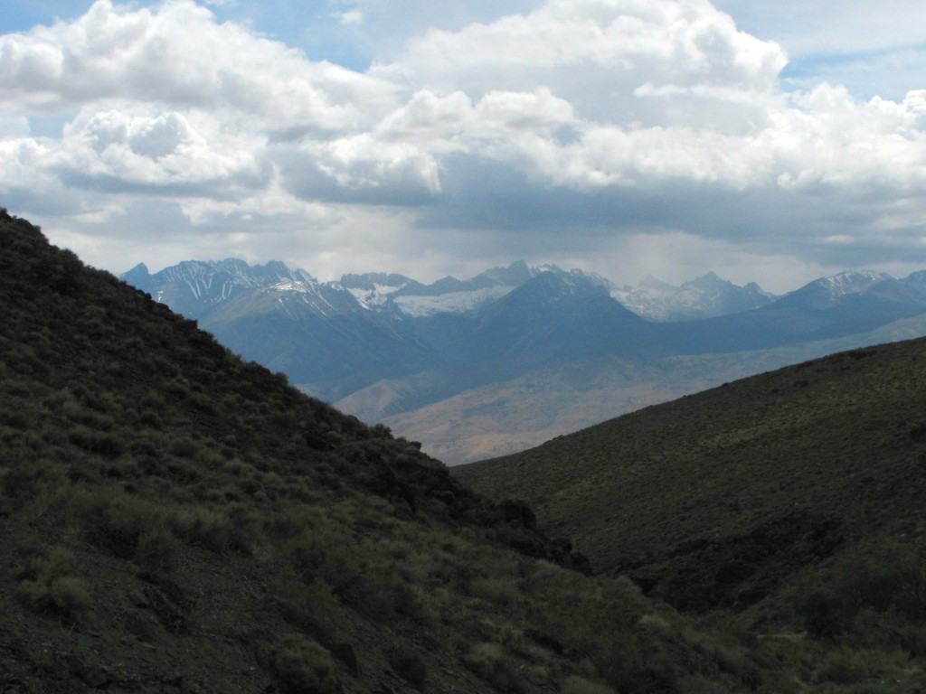 View from up on Westgard Pass, looking southwest.