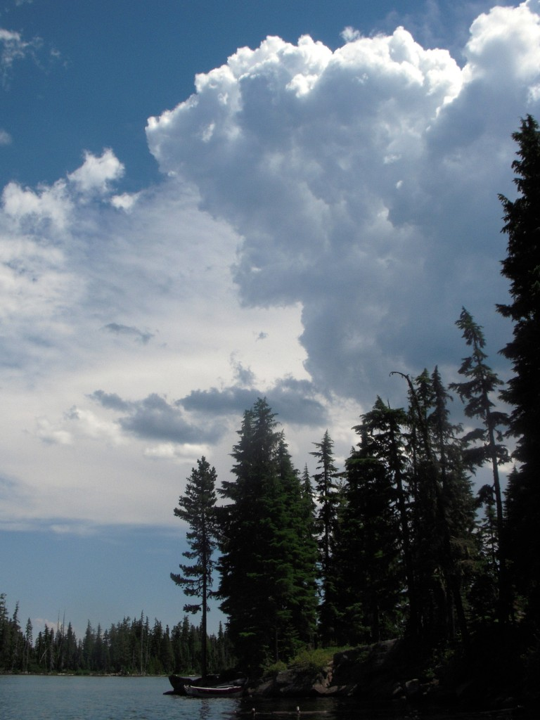 Storm Cloud over Olallie Lake