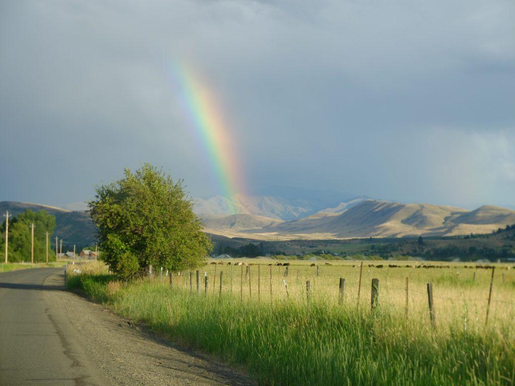 Rainbow outside Halfway