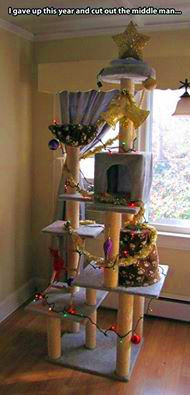 Cat tower Christmas tree