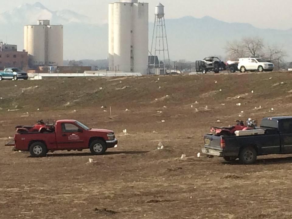 The extermination of the prairie dog colony at Longmont, Colorado (Photo courtesy Prairie Protection Colorado)