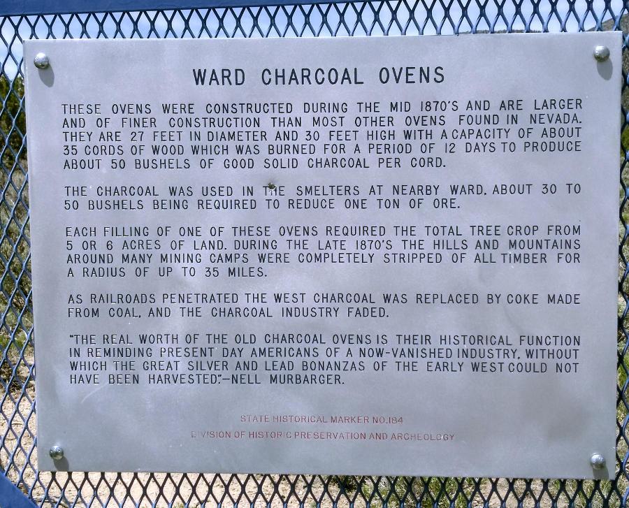 The Ward Charcoal Kilns [Photo N.P. Hill]