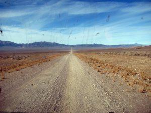Gravel road in central Nevada, October 2014.