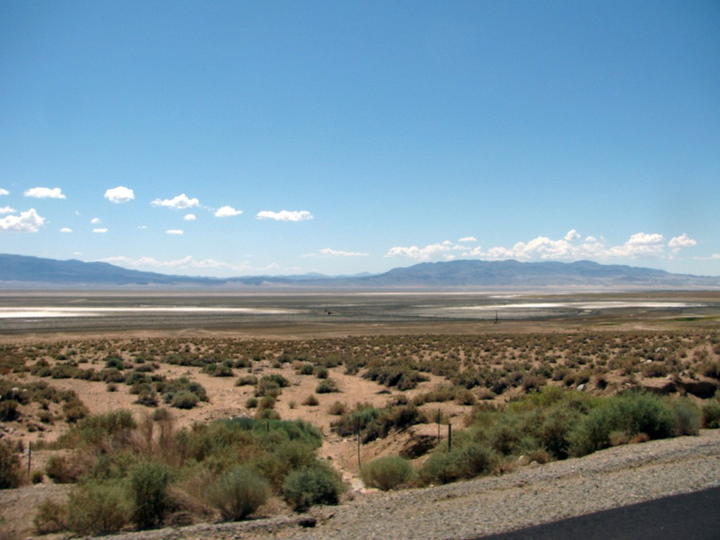 The former Owens Lake