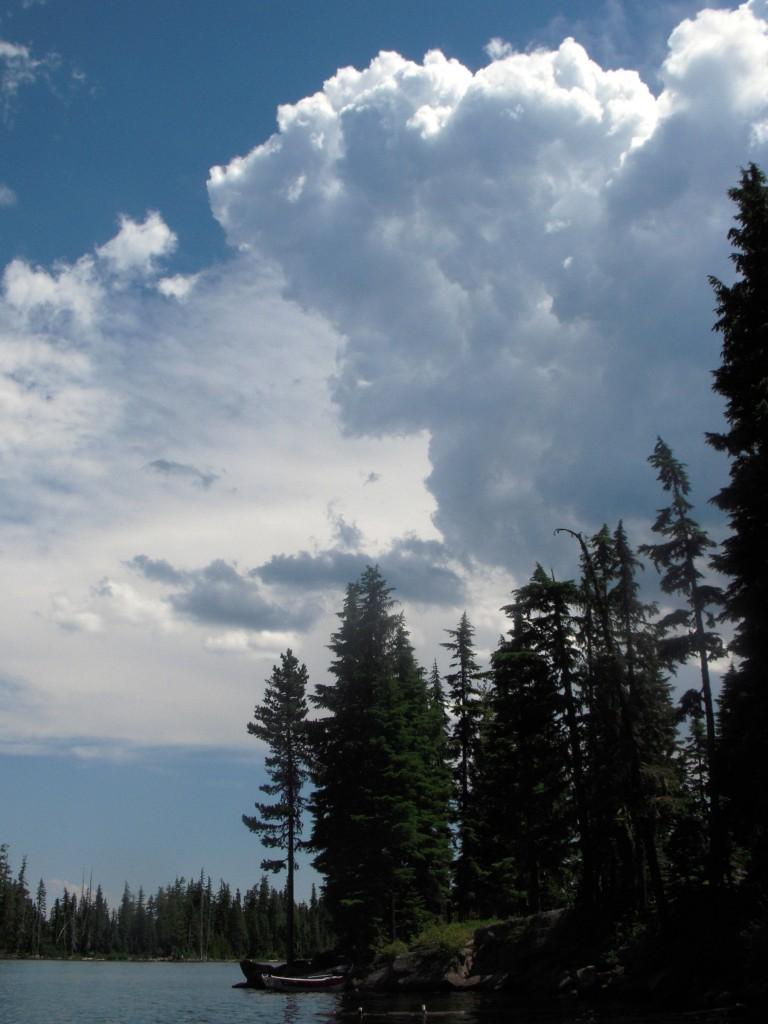 Storm Cloud over Olallie Lake