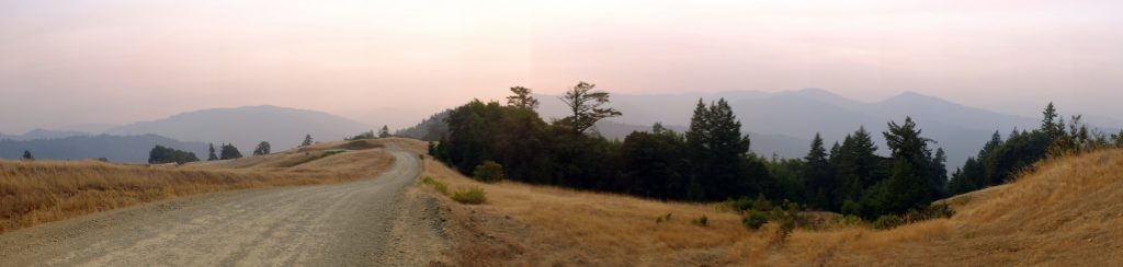 Smoke in the hills above Garberville