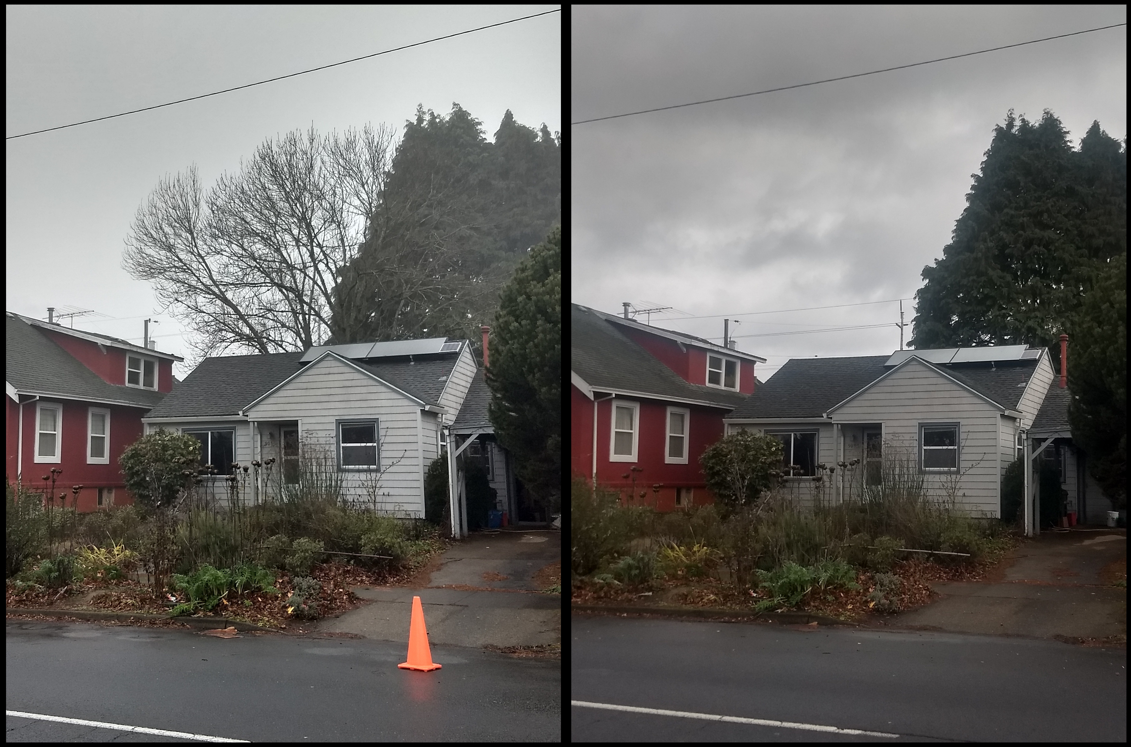 Street view before and after