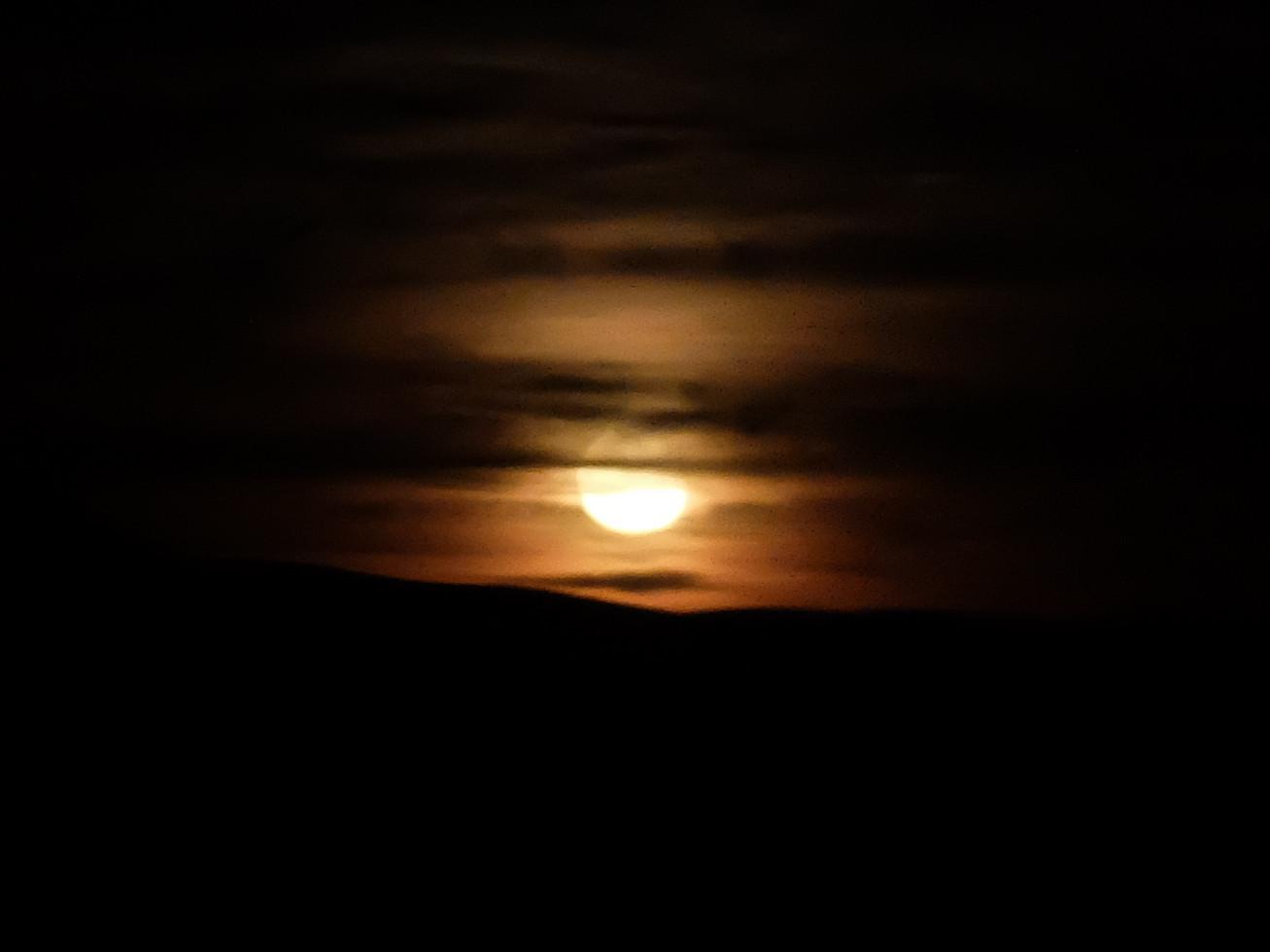 Moonrise in Nevada, Sept. 2018