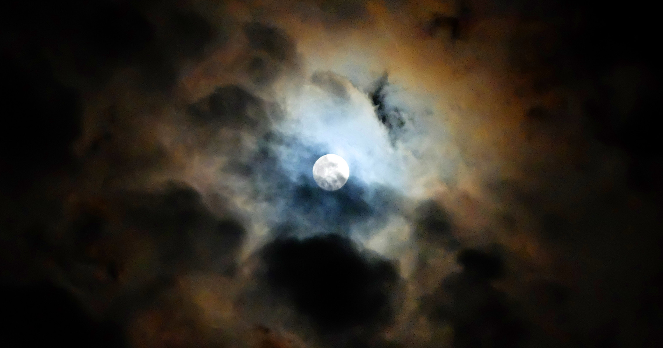 Moon as observed in Mendocino County, Jan. 2018 (Photo by the author)