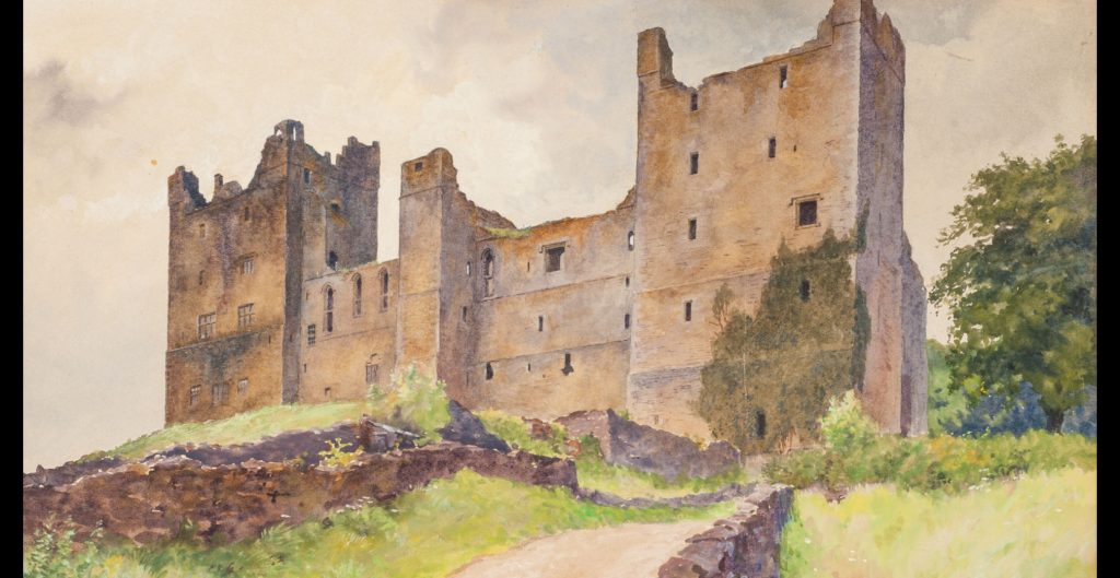 """Castle Ruin"" by Harold Broadfield Warren, 1896."